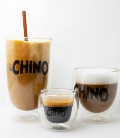 Chino double walled coffee glasses